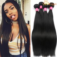 Wholesale Unprocessed Grade Virgin Hair - Grade 8A Mink Brazilian Straight Hair Weave 100% Unprocessed Brazilian Virgin Hair Straight peruvian malaysian indian Human Hair Extensions
