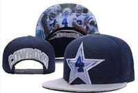 Wholesale Stocking Cap Wholesale - New Caps Football Snapback Dallas Hats Gray And Blue Color #4 Dak Hat Team Hats Mix Match Order All Caps in stock Top Quality Hat