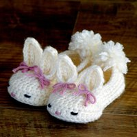 Wholesale Lace Up Ballet Slippers - Wholesale- Crochet Baby shoes, Ballet Flats, Baby shoes, Custom baby shoes, fashion baby,Round Bunny House Slippers