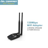 Atacado- 2.4Ghz usb wifi adaptador wi fi antena 12dB rede LAN Card usb wi-fi adaptador 150m dongle wifi Android Adaptador US Stock