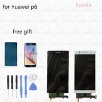 Wholesale Huawei Ascend P6 Pink - Wholesale- 100% Original White Black Pink For Huawei Ascend P6 LCD Display+Touch Screen+Digitizer Glass Assembly P6S P6-U06 C00 T00 S-U06