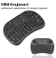 Wholesale mini rechargable battery resale online - High quality I8 Fly Air Mouse G Mini Wireless Keyboard game Mouse for computer tv box with retail box rechargable lithium battery