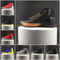 Wholesale Mens Winter Boots Free Shipping - 2017 Curry 3 Men Basketball Shoes official Version Mens Sports Training Sneakers MVP Retro Signature curry 3s III Free Shipping