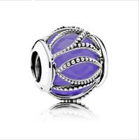 embarque granadas de buracos grandes venda por atacado-2017 moda 50 pçs / lote liga grande círculo furos de cristal gem prata beads DIY pulseira acessórios jóias para mulheres atacado frete grátis
