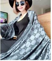 Wholesale Euro Style Women - brand Cashmere Euro Fashion New Style Classic Brand Women Scarf printing letter shawl 140*140CM
