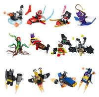 Wholesale Plastic Joker - Marvel Super Heroes Blocks Batman Joker Harley Quinn Cape Low Rider Robin Calendar Man Building Minifigures Bricks Puzzle Kids Toys 34012
