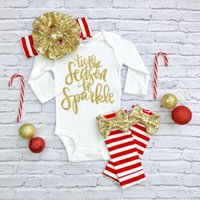 Wholesale Girls Autumn Apparel - Baby Girl Clothes Cotton Baby Rompers Children Clothing Sets Fashion Print Letters Kid Autumn Spring Jumpsuit Girls Baby Apparel
