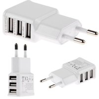 Wholesale wall galaxy s4 for sale - 100Pcs White Color Three usb Ports Eu US Quick Charging Ac home wall charger power adapter for samsung galaxy s4 s6 s7 edge android phone
