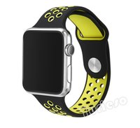 Wholesale Cool Wrist Bands - Newest smart watch and Flexible breathable sport silicone Band for apple watch Series 2 42 38mm Stylish Cool Bracelet Strap for Apple Watch