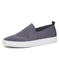 Wholesale Cheap Fabric For Cloth - cheap free shipping air mesh fabric mens loafers black white color cloth patchwork leisure canvas shoes for mans cool walk shoes