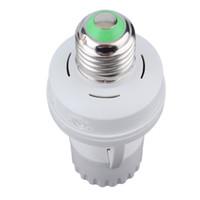 kızılötesi pir sensör led ışıklar lamba toptan satış-AC 110-220 V 360 Derece PIR İndüksiyon Hareket Sensörü IR kızılötesi İnsan E27 Fiş Soket Anahtarı Bankası Led Ampul işık Duy ...