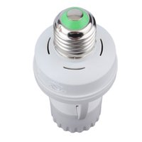 Wholesale bulb ac plug resale online - AC V Degrees PIR Induction Motion Sensor IR infrared Human E27 Plug Socket Switch Base Led Bulb light Lamp Holder