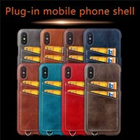 Wholesale Leather Shell Pouches - Newest Luxury Fashion Multicolor Wallet PU Leather Case Cover Pouch With Card Slot Protection Back Cover Shell For iphone X