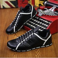 Wholesale Boat Shoes Business Casual - Hot! 2017 Spring tide men casual shoes High Quality business Lace-Up PU Leather Shoes Men Fashion Men Oxford boat shoes