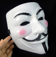 Wholesale Masquerade Masks For Guys - Halloween Party Masks V for Vendetta Mask Anonymous Guy Fawkes Fancy Dress Adult Party Cosplay Masks Volto Masquerade Face Man