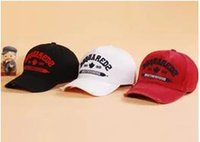 Wholesale Icons Print - Newest design DSQ icon hat 100% Cotton Luxury brand cap DSQ icon Embroidery hats for men snapback Baseball Caps casual visor gorras bone