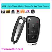 Wholesale Mini Motion Activated Hidden Camera - Car Key Camera Full HD 1920*1080P MOTION ACTIVATED With IR hidden camera Car Key Camcorder Mini DV DVR spy camera PQ193