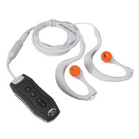 Wholesale Mp3 Dive - Wholesale- 2016 Sports Mp3 Waterproof IPX8 Music Player 4GB Storage Clip Mp3 Player FM Swimming Diving + 1pcs Stereo Earphone #ET03