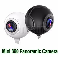 Wholesale Video Camera Fisheye Lens - Mini 360 Panoramic Camera Micro USB  Type-C VR Camera Pano port Dual Angle FishEye Lens for Smartphone Supporting Share on Social Video