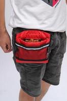 Wholesale Belt Buckle Base - Brand New 50pcs lot Pet Dog Treat Bait Waist Pouch Puppy Reward Based Training Bag with Buckle Belt