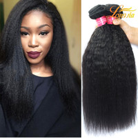 Longjia Hair 3 Bundles Virgin Malaysian Yaki Straight Kinky Straight Hair Loose Wave Afro Kinky Cheveux Humains Weave 8-20inch Natural Color
