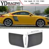 Wholesale Tt Car Sticker - Car Styling Carbon Fiber Racing Side Door Panel Fender Guard Boards Trim Sticker for Audi TT TTS TT RS Coupe Convertible 2015-2017