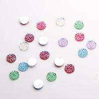 Wholesale Glue Gems - Half Round Resin beads Flatback Glue On Crafts Gems Beads DIY Veiny Art Decorations
