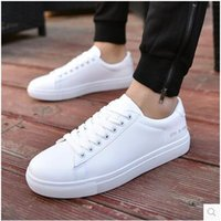 Wholesale Trend Casual Black Shoes - 2017 spring newest White shoes men's boys white board white shoes Korean casual shoes trend spring student wild tide
