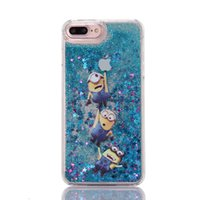 """Wholesale Iphone Little Mermaid - Cartoon colored drawing Little Mermaid Liquid quicksand back cover for iphone 5 5s SE 6 6s 4.7"""" 6 6s plus phone case"""
