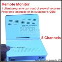 Wholesale remote telephone - Wholesale- 8CH OEM language program& multi-REMOTE MONITOR function telephone monitor,telephone monitor,phone logger USB telephone recorder
