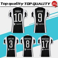 Wholesale Man Uniforms - 2018 home Soccer Jersey 17 18 DYBALA Soccer Shirt Customized MARCHISIO MANDZUKIC HIGUAIN football uniform Sales size S-4XL