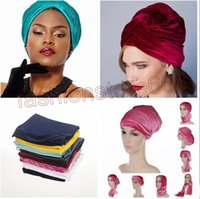 2017 New Europe Women indian beanies caps Fashion Plain Color Velvet Muslim Turban Hats Indian Caps