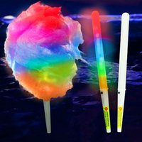 Wholesale toy colorful led light sticks - Newest Colorful Cotton Candy Sticks Colorful LED Light Flashing Sticks For Christmas Party Dance For children's toys