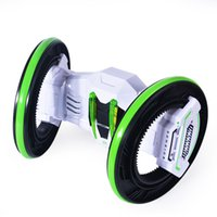 Wholesale Two Wheels Race Stunt Car Remote Control RC Vehicle with LED Headlights Double sided Tumbling Extreme High Speed Degree Rolling Rotating