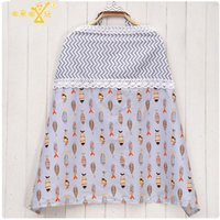 Atacado- New Baby Nursing Covers Multifuncional Cotton Amamentação Covers Adjustable Print Lace Maternidade Mummy Breast Feeding Apron