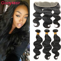 Wholesale Virgin Hair Brazilian Vendor - Unprocessed Brazilian Peruvian Cambodian Virgin Hair Bundle Deals 8a Remy Human Hair Weave Vendors 3 Bundles with 13X4 Lace Frontal Closure