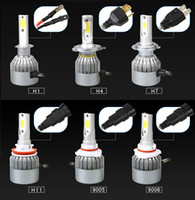 C6 Car Headlights 72W 7600LM Ampoules Led H1 H3 H7 9005 9006 H11 H4 H13 9004 9007 Automobiles Phare 6000K Fog Lamps