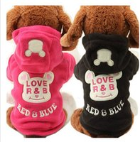Coats, Jackets & Outerwears Fall/Winter Chirstmas 1pc lot Brand New Pet Puppy Hoodie Coat Winter Warm Outfit fleece Letter lOVE R&B black pink dog clothes size XS-L