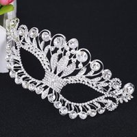 Grossiste-Femmes Princesse Argent Masque Masque Masque Party Masques De Mariage Crystal Cosplay Mardi Gras Eye Costume Ball Prom Show Masque