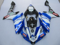 Wholesale customize yzf r1 - Injection molding free customize fairing kit for Yamaha YZF R1 07 08 blue white black fairings set YZFR1 2007 2008 OT14