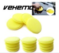 Vente en gros- 12Pcs Yellow Waxing Buffing Foam Sponge Pads For Clean Car Auto Accueil Polonais Utilisé facilement Propriété stable Durable Stretchy Soft