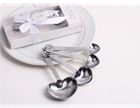 Wholesale Measuring Favor - Love Wedding favors of Simply Elegant Heart Shaped Stainless Steel measuring spoon in White Gift Box wa4111