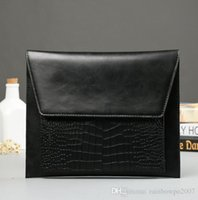 Factory WholeTide Marque Korean Male Package Carte en cuir Man Hand Bag Tendance Crocodile Leather Clutch Leisure Business Envelopes