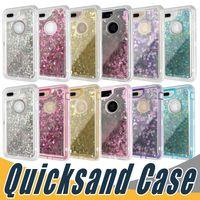 note cas de sables mouvants achat en gros de-Etui 3 en 1 de Mode Poudre Liquide Glitter Coque Cristal Pour iPhone 11 Pro Max Xs Max 8 Plus Samsung S10 Plus Lite Note 9 S8 S9 Plus
