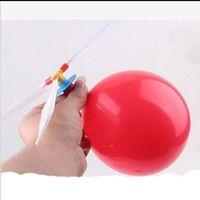 spielzeug hubschrauber ballons groihandel-Umweltfreundlich Partei-Dekoration Ramdom Fliegen für Kinder Ballon-Hubschrauber-Ballon-Flugzeug-Spielzeug-Kind-Spielzeug-Ballon-Hubschrauber 13,5 * 3.8 * 9cm