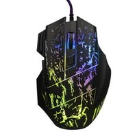 Wholesale Led Backlit Computer - New Arrival 5500 DPI 7 Button LED Optical USB Backlit Wired Mouse Gamer Mice Computer Mouse Gaming Mouse For Pro Gamer