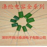 Wholesale Purpose Films - Wholesale- 50PCS LOT Polyester capacitors Film Capacitor 2A104J 100V 0.1UF 100NF Pitch 5mm