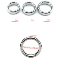 Wholesale Delay Ring Steel - Metal Testicle Weight Bearing Enhancer Ring Stainless Steel Delay Penis Rings Cock Scrotum Ball Heavy Stretcher For Men