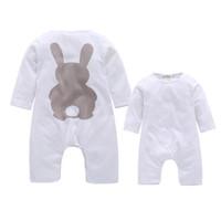 Newborn baby boy pagliaccetti autunno inverno coniglio manica lunga vestiti  del ragazzo tute neonata pagliaccetto del bambino tuta abbigliamento 2108056 7508bd7bd87