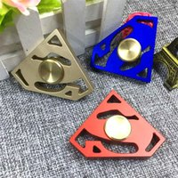 Wholesale Triangle Gem - Fidget Spinner EDC Hand Spinners Metal Alloy Superman Gem Decompression Anxiety Fingertips Gyro Tri Triangle Finger Toys OTH556